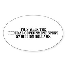 Government Fun Facts Oval Decal