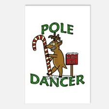 Funny Dancer Christmas Reindeer Pun Postcards (Pac