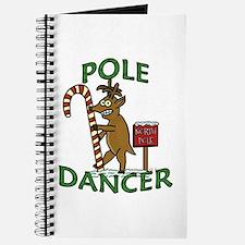 Funny Dancer Christmas Reindeer Pun Journal