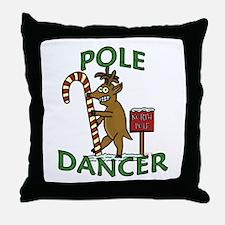 Funny Dancer Christmas Reindeer Pun Throw Pillow