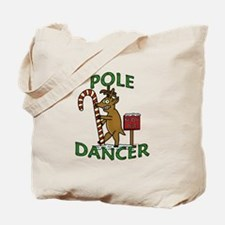 Funny Dancer Christmas Reindeer Pun Tote Bag