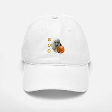 Poodle (Wht) Boo Baseball Baseball Cap