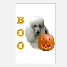 Poodle (Wht) Boo Postcards (Package of 8)
