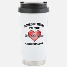 World's Best Chiropract Stainless Steel Travel Mug