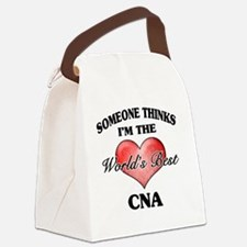 World's Best CNA Canvas Lunch Bag