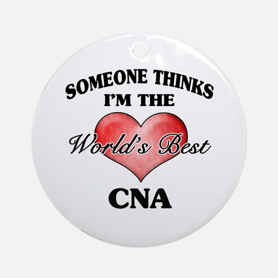World's Best CNA Ornament (Round)