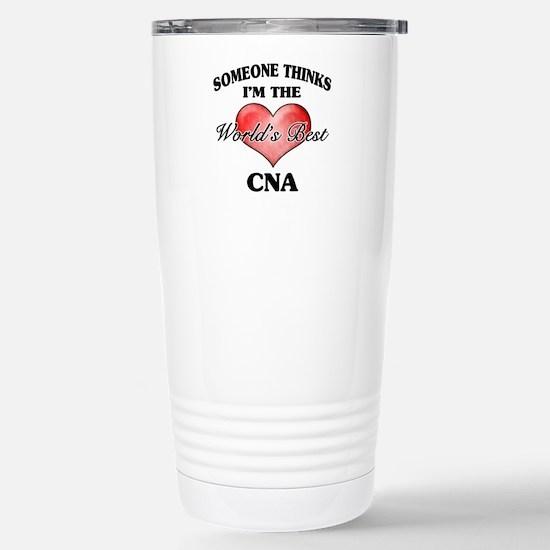 World's Best CNA Stainless Steel Travel Mug