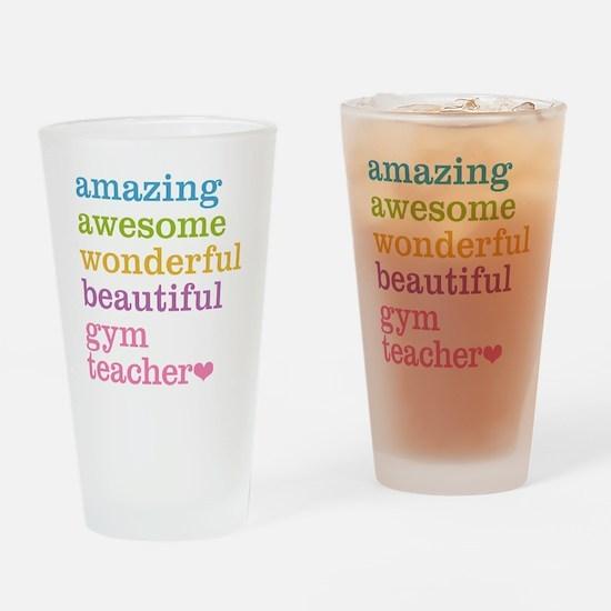 Gym Teacher Drinking Glass
