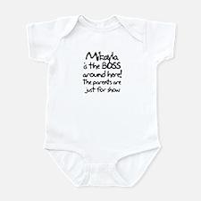Mikayla is the Boss Infant Bodysuit