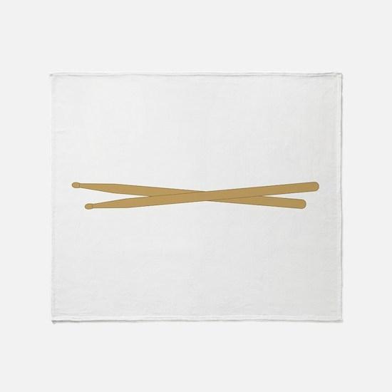 Drum Sticks Throw Blanket