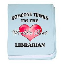World's Best Librarian baby blanket