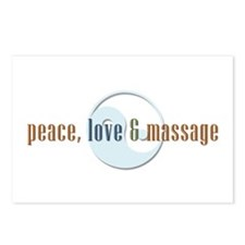 Peace, Love and Massage Postcards (Package of 8)