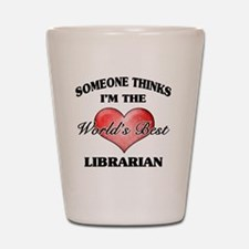 World's Best Librarian Shot Glass