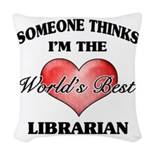 World's Best Librarian Woven Throw Pillow