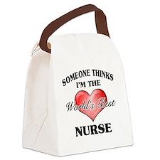 World's Best Nurse Canvas Lunch Bag