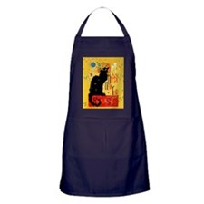 Chat Noir New Years Party Countdown Apron (dark)