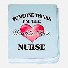 World's Best Nurse baby blanket
