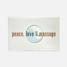 Peace, Love and Massage Magnets