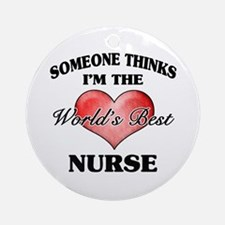 World's Best Nurse Ornament (Round)