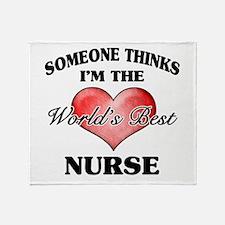 World's Best Nurse Throw Blanket
