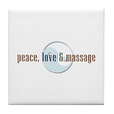 Peace, Love and Massage Tile Coaster