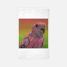 Rosy Bourkes Parakeet 3'x5' Area Rug