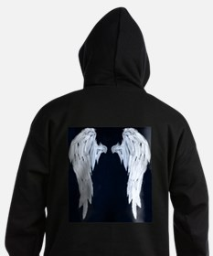 Angel Wings Blue Moon Hoodie (dark)