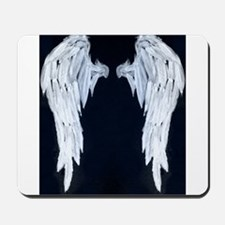 Angel wings blue moon Mousepad