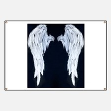 Angel wings blue moon Banner