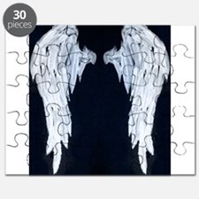 Angel wings blue moon Puzzle