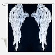 Angel wings blue moon Shower Curtain