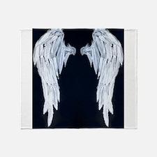 Angel wings blue moon Throw Blanket