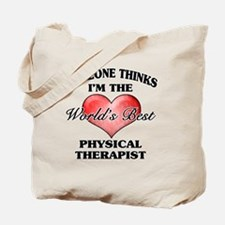 World's Best Physical Therapist Tote Bag