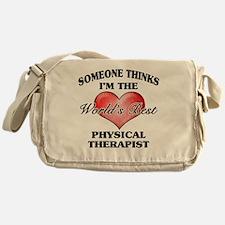 World's Best Physical Therapist Messenger Bag