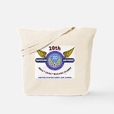 20TH ARMY AIR FORCE* ARMY AIR CORPS WW II Tote Bag