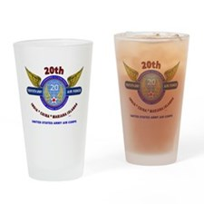 20TH ARMY AIR FORCE* ARMY AIR CORPS Drinking Glass