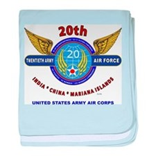 20TH ARMY AIR FORCE* ARMY AIR CORPS W baby blanket