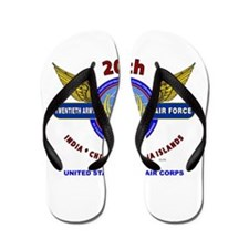 20TH ARMY AIR FORCE* ARMY AIR CORPS WW Flip Flops