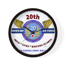 20TH ARMY AIR FORCE* ARMY AIR CORPS WW Wall Clock