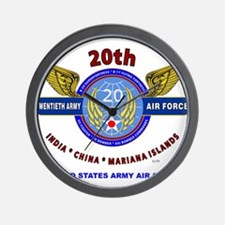 20TH ARMY AIR FORCE* ARMY AIR CORPS WW Wall Clock