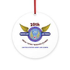 20TH ARMY AIR FORCE* ARMY AIR COR Ornament (Round)