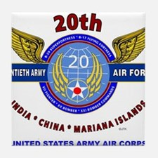 20TH ARMY AIR FORCE* ARMY AIR CORPS W Tile Coaster