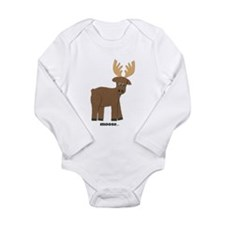 Funny Animal Long Sleeve Infant Bodysuit