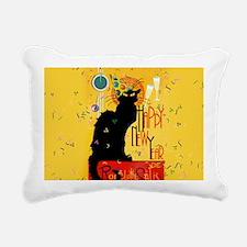 Chat Noir New Years Part Rectangular Canvas Pillow
