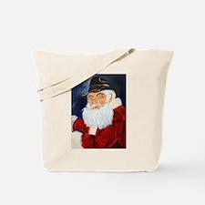 Santa golfing Tote Bag