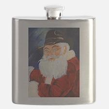Cool Santa golfing Flask