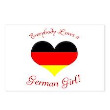 German Girl Postcards (Package of 8)