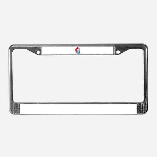 Santa Labradoodle License Plate Frame