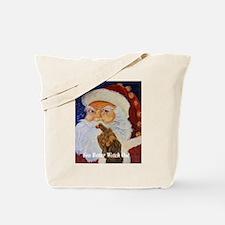 Funny Santa golfing Tote Bag