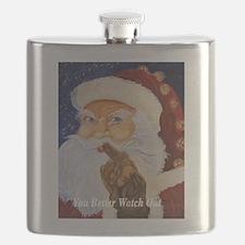 Cute Santa golfing Flask